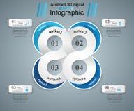 Abstrakte 3D digitale Illustration Infographic Lizenzfreies Stockbild
