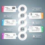 Abstrakte 3D digitale Illustration Infographic Stockfoto