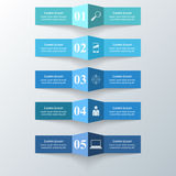 Abstrakte 3D digitale Illustration Infographic Lizenzfreie Stockfotos