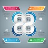 Abstrakte 3D digitale Illustration Infographic Stockfotografie