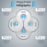 Abstrakte 3D digitale Illustration Infographic Lizenzfreie Stockbilder
