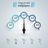 Abstrakte 3D digitale Illustration Infographic Geschwindigkeitsmesserikone Lizenzfreies Stockfoto