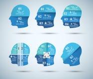 Abstrakte 3D digitale Illustration Infographic Hauptikone Stockbild
