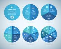 Abstrakte 3D digitale Illustration Infographic Kreis-Ikone Lizenzfreie Stockbilder