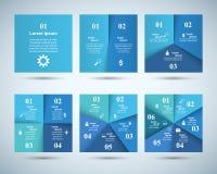 Abstrakte 3D digitale Illustration Infographic Quadratische Ikone Stockbilder