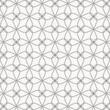Abstrakte d?nne Linie der Blume und des Sternes kreuzte jedes, ist Muster sauber und f?hig stimmen Sie eigenh?ndig ?berein stock abbildung