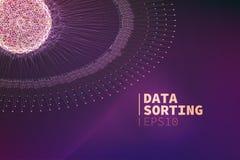 Abstrakte Daten, die Illustration sortieren Informationsentstörung Data - Mining lizenzfreie abbildung