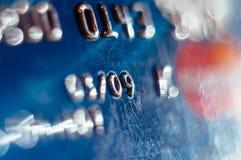 Abstrakte defocused Kreditkarte Lizenzfreie Stockfotografie