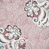 Abstrakte Dekoration, Einladungskarte mit abstrakten Blumen Stockbild