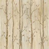 Abstrakte dekorative Bäume - hölzerne Beschaffenheit vektor abbildung