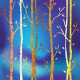 Abstrakte dekorative Bäume - Innentapete lizenzfreie abbildung