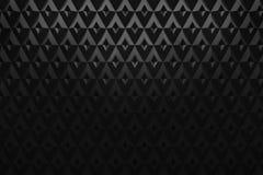 Abstrakte des Dreieckmusterhintergrundes 3d des schwarzen Diamanten Wiedergabe Stockfotos
