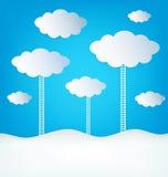 Abstrakte Design-Wolken Stockfotos