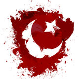 Abstrakte die Türkei-Flagge Stockbilder