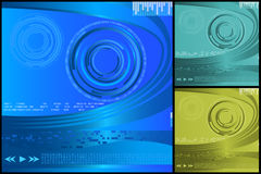 Abstrakte Digital-Hintergründe Stockbild