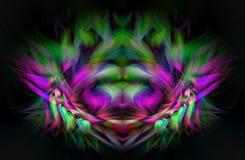 Abstrakte Digital-Kunst Fantastische Abbildung lizenzfreie abbildung