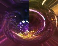 Abstrakte digitale Fractalkarten-Formwelle künstlerisch, dynamisches kreatives lizenzfreie abbildung
