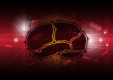 Abstrakte digitale Gehirnkommunikation Stockbilder