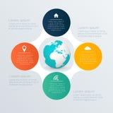 Abstrakte digitale Illustration Infographic Stock Abbildung