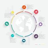 Abstrakte digitale Illustration Infographic Vektor Abbildung