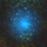Abstrakte digitale Raumillustration Cyberraumportal mit chaotischen Linien und Stellen vektor abbildung
