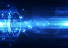 Abstrakte Digitaltechnik-Hintergrundillustration des Vektors Lizenzfreie Stockbilder