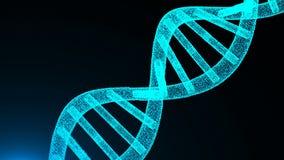 Abstrakte DNA-Partikel Digital-Illustrationshintergrund vektor abbildung