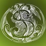 Abstrakte Dollar-Zeichen-Zeichnung Stockfoto