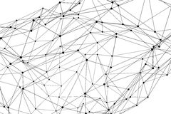 Abstrakte dreidimensionale Polygon wireframe Netzstruktur Stockfotografie