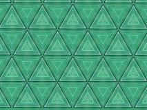 Abstrakte Dreiecke maserten grünes Muster stockbild