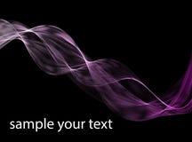 Abstrakte dunkle Purpurwellen Zeichnen Sie das lila Band der violetten Welle, das auf schwarzem Hintergrund lokalisiert wird Stockbilder