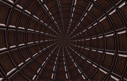 Abstrakte dunkle Schokoladenspirale gemacht vom Schokoriegel Rotationszusammenfassung Schokoladenhintergrundmuster Dunkle Schokol Lizenzfreies Stockfoto