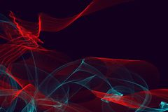 Abstrakte dynamische Linien Hintergrund Stockfotografie