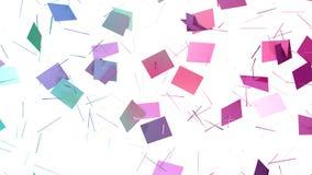 Abstrakte einfache blaue rosa niedrige Poly-aufgeteilte Oberfläche 3D als heller Hintergrund Weicher geometrischer niedriger Poly lizenzfreie abbildung