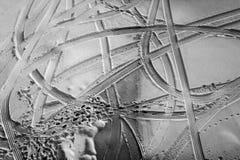 Abstrakte Eis-Schnee-Muster im Winter in Schwarzweiss Lizenzfreie Stockbilder