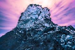 Abstrakte Eisbildung an Jokulsarlon-Strand Südost-Island Lizenzfreie Stockfotografie