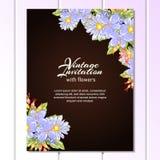 Abstrakte Eleganzeinladung mit Blumenhintergrund Stockbild