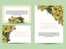 Abstrakte Eleganzeinladung mit Blumenhintergrund Stockfotografie