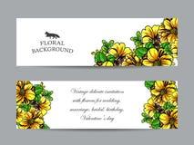 Abstrakte Eleganzeinladung mit Blumenhintergrund Stockfoto