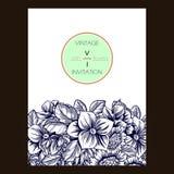 Abstrakte Eleganzeinladung mit Blumenhintergrund Lizenzfreie Stockfotos