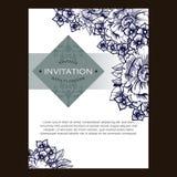 Abstrakte Eleganzeinladung mit Blumenhintergrund Lizenzfreie Stockfotografie