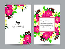 Abstrakte Eleganzeinladung mit Blumenhintergrund Lizenzfreies Stockbild