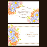 Abstrakte Eleganzeinladung mit Blumenhintergrund Lizenzfreies Stockfoto