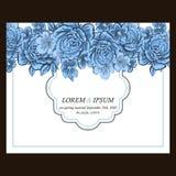 Abstrakte Eleganzeinladung mit Blumenhintergrund Lizenzfreie Stockbilder