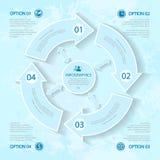 Abstrakte Elemente von infographics für Geschäft Stockbild
