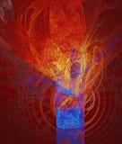 Abstrakte Entlastungsbeschaffenheit in Rotem und in Blauem Stockbild
