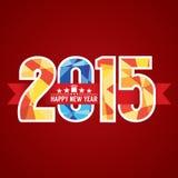 Abstrakte Fahne 2015 Lizenzfreies Stockbild