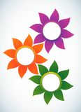 Abstrakte Fahne der Blume Stockbild