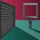 Abstrakte Fahne des Büros mit leichten Farben des Textgeschäfts-Hintergrundes Stockbild