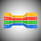 Abstrakte Fahne für guten Rutsch ins Neue Jahr 2016 Stockbilder